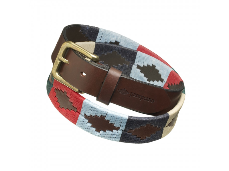Pampeano Belt Multi - Navy, Racing Green, Cream, Light Blue, Red