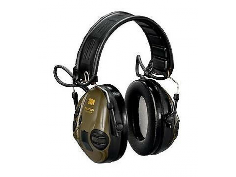 Peltor Sportac Electronic Earmuffs: Green