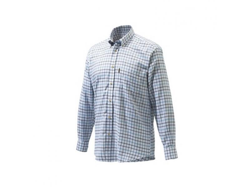 Beretta Classic Shirt White/Blk/brown Check