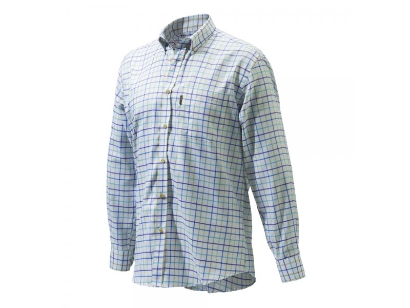 Beretta Classic Shirt White/Blu/Rope Check