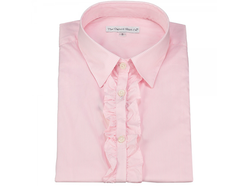 Oxford Shirt Co Ladies Fitted Stripe Pink/White Shirt