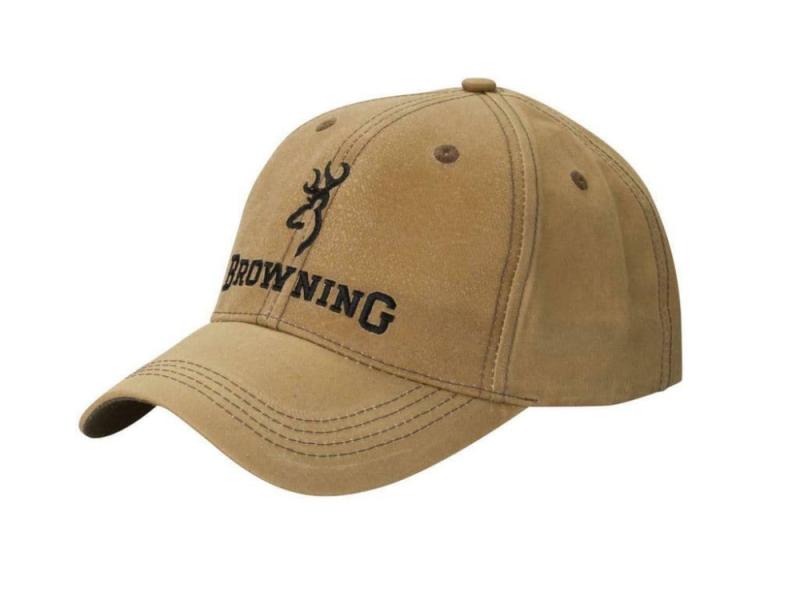 Browning Cap Lite Wax  Logo, Khaki