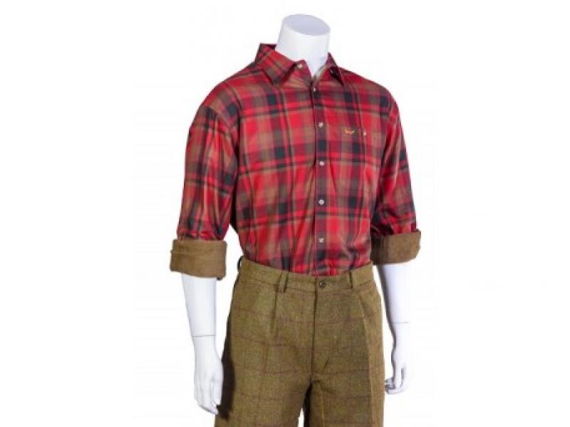 Bonart Exton Red Check Fleece Shirt