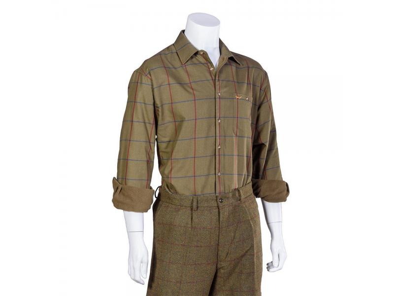 Bonart Glenlee Green Check Fleece Shirt