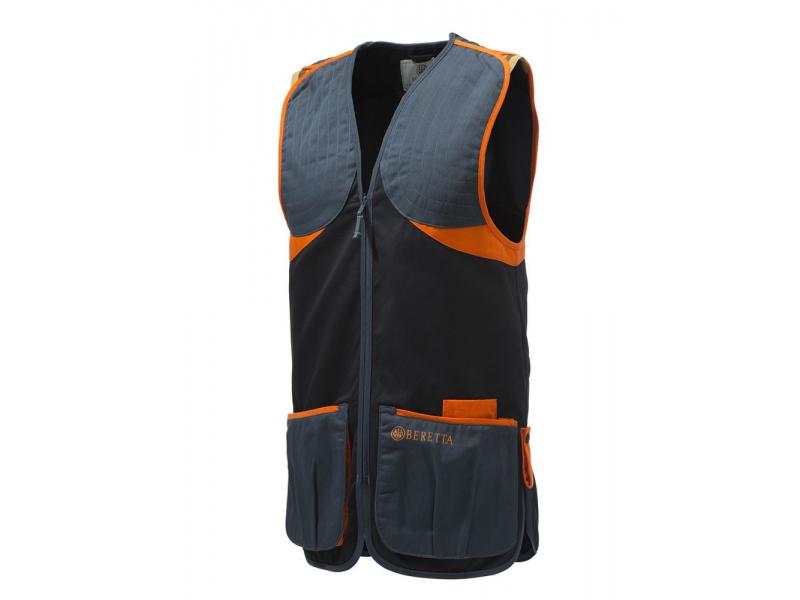 Beretta Full Cotton Vest BLK/OGN
