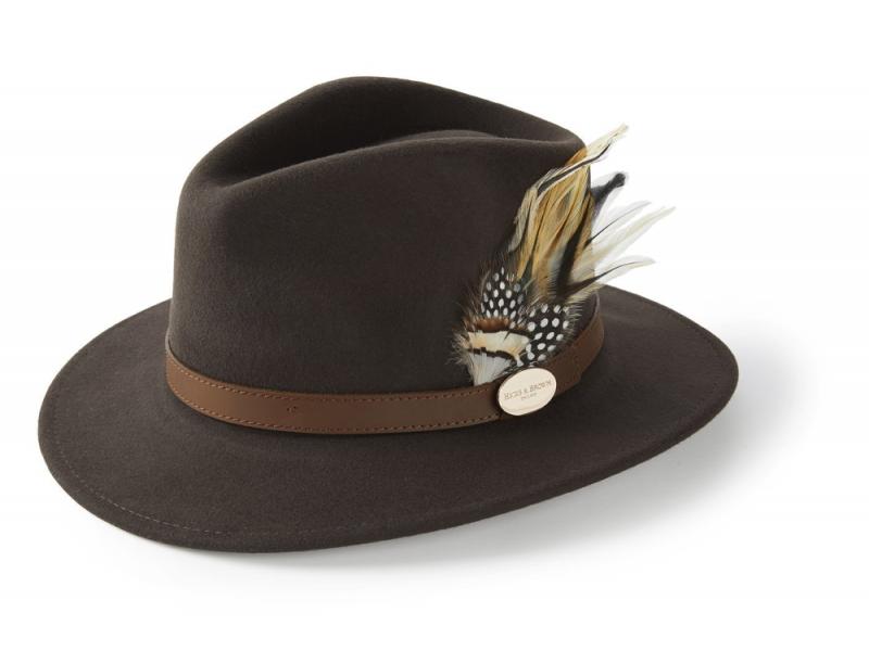 Hicks and Brown The Suffolk Fedora - Guinea/ Pheasant