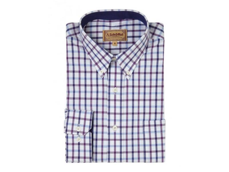 Schoffel Brancaster Shirt Purple