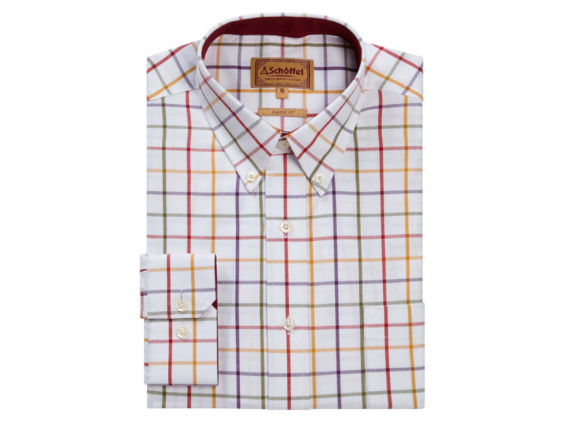Schoffel Brancaster Shirt Red/Purp/Must/Olive