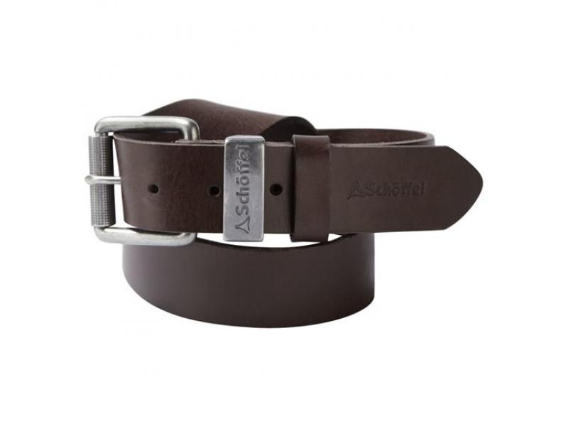 Schoffel Leather Belt Dark Brown