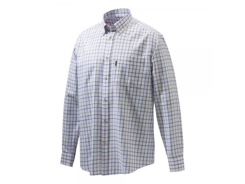 Beretta Classic Shirt White/Violet Check