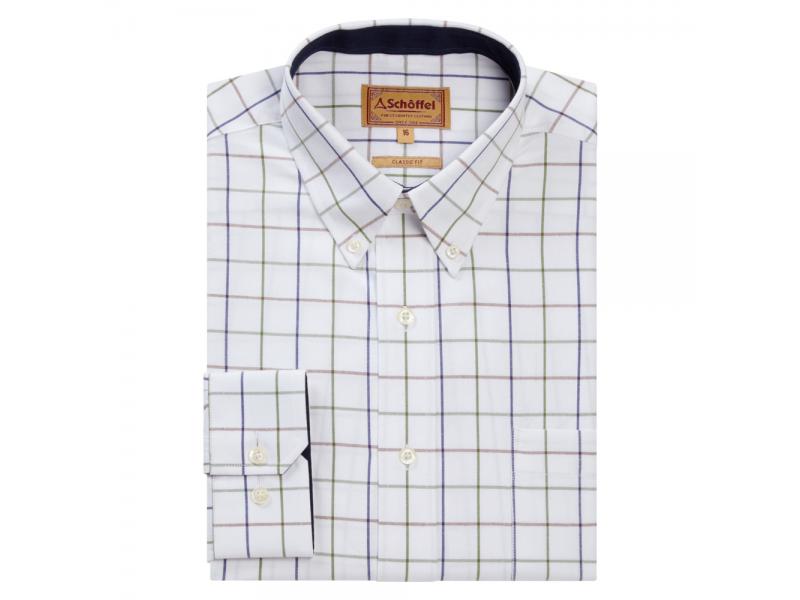 Schoffel Brancaster Shirt navy/brown/olive