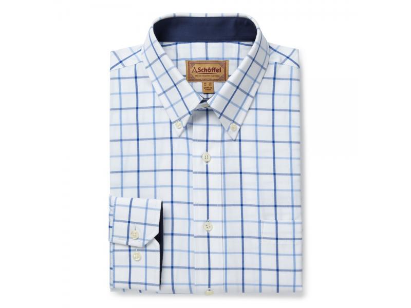 Schoffel Brancaster Classic Shirt Blue Check